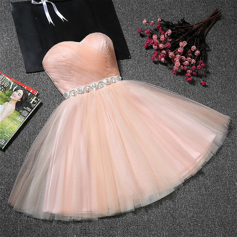 Holievery Sweetheart Tulle Homecoming Dresses With Crystal Sash 2020 Vestido Graduacion Party Dress Short Gowns