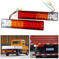 Hot 2pcs Trailer Lights LED Stop Rear Tail Brake Reverse Light Turn Indiactor Led 12V 24V