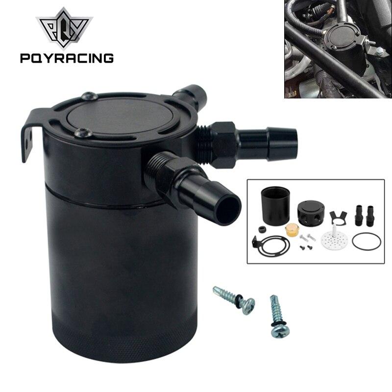 PQY-alta calidad desconcertada 3 puertos captura de aceite lata/tanque/separador de aceite de aire negro PQY-TK66