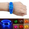 Fashion Shine In The Dark LED Voice Control Smart Bracelet Flashing Bangle Wristband