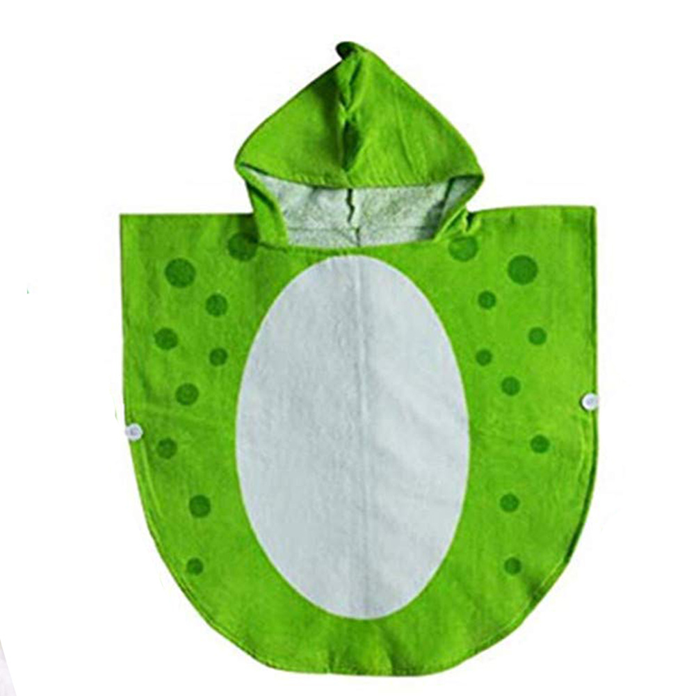 Robe Robe Soft Hooded Poncho Kids Beach Children Breathable Dinosaur Pattern Water Absorbent Swimming Cartoon Cotton(China)