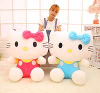 New 20cm 45cm 60cm Kawaii Stuffed Baby Hello Kitty Doll Plush Soft Toys Dolls Lovely Cartoon