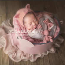 цены на New Studio Baby Props Pig Iron Posing Basket Newborn Baby Photography Props for Photo Shoot Infant Prop Fotografia Recien Nacido  в интернет-магазинах