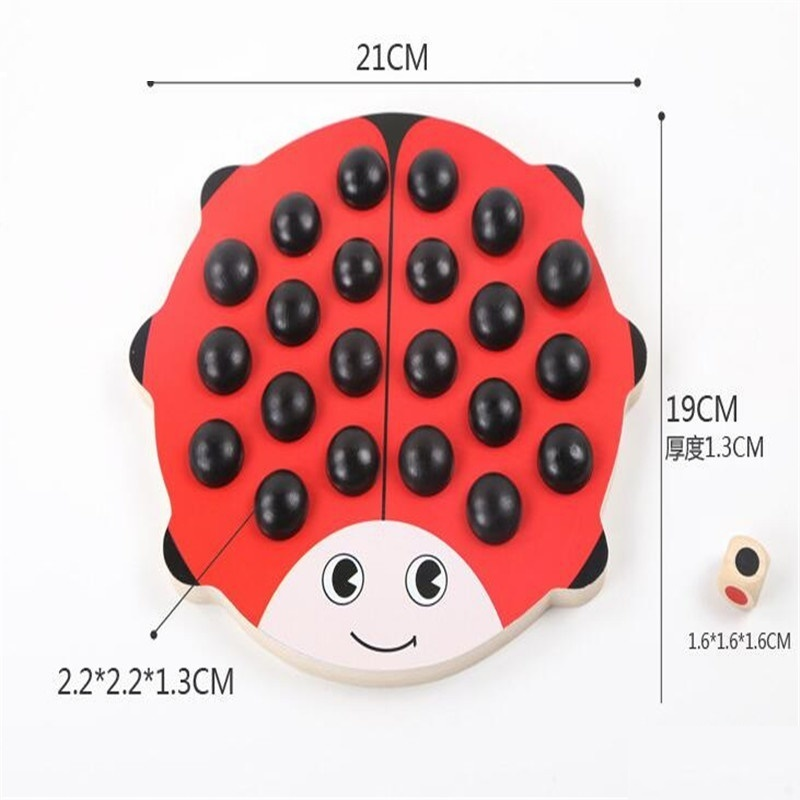 Montessori Wooden Pair Game Memory Matching Beetle Chessman Toys For Children Educational Brinquedos Juguetes Brinquedo Oyunca48 in Puzzles from Toys Hobbies