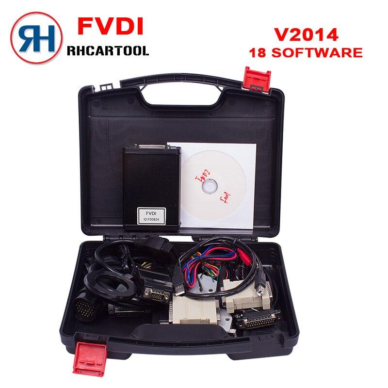 Prix pour Nouveau FVDI ABRITES Commandant Version Complète avec 18 logiciel activé pour VAG pour BMW Pour Opel Pour Toyota Pour Ford etc 18 logiciel