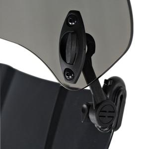 Image 3 - ユニバーサルオートバイフロントガラス延長スポイラーエア風偏向器モトライザーウインドスクリーン BMW ホンダスクーター Accesssory