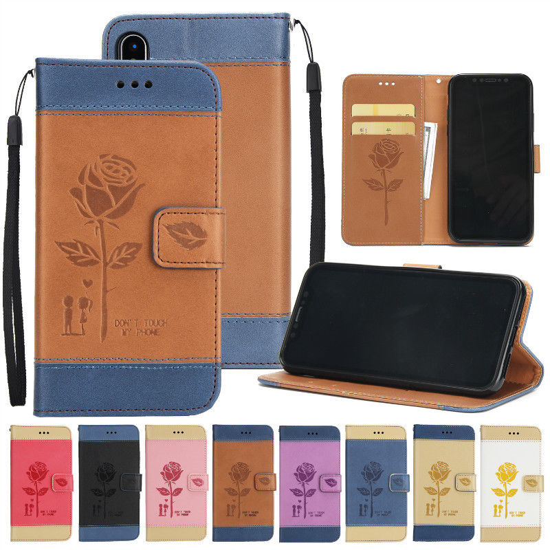 Magnetic Pattern Leather Flip Wallet Case Cover For iPhone5 6 7 8 X Samsung S8 note 5 Huawei P9 etc UM