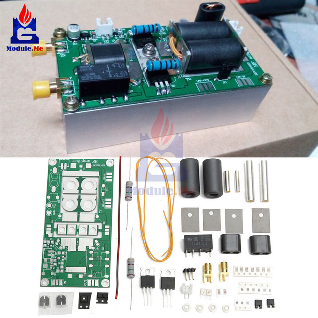 DIY Kit 5W 70W SSB Linear HF Power Amplifier Module AM CW FM Low Radio  Connect Board 13 8v 10A Prohibit Open Short
