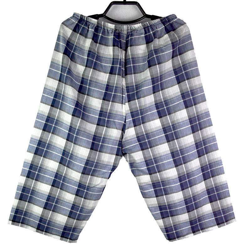 Men 100% Cotton Soft comfort Loose knee-length pant for sleep lounge,Men Summer Pajamas Bottoms,knee-length Sleep Pant