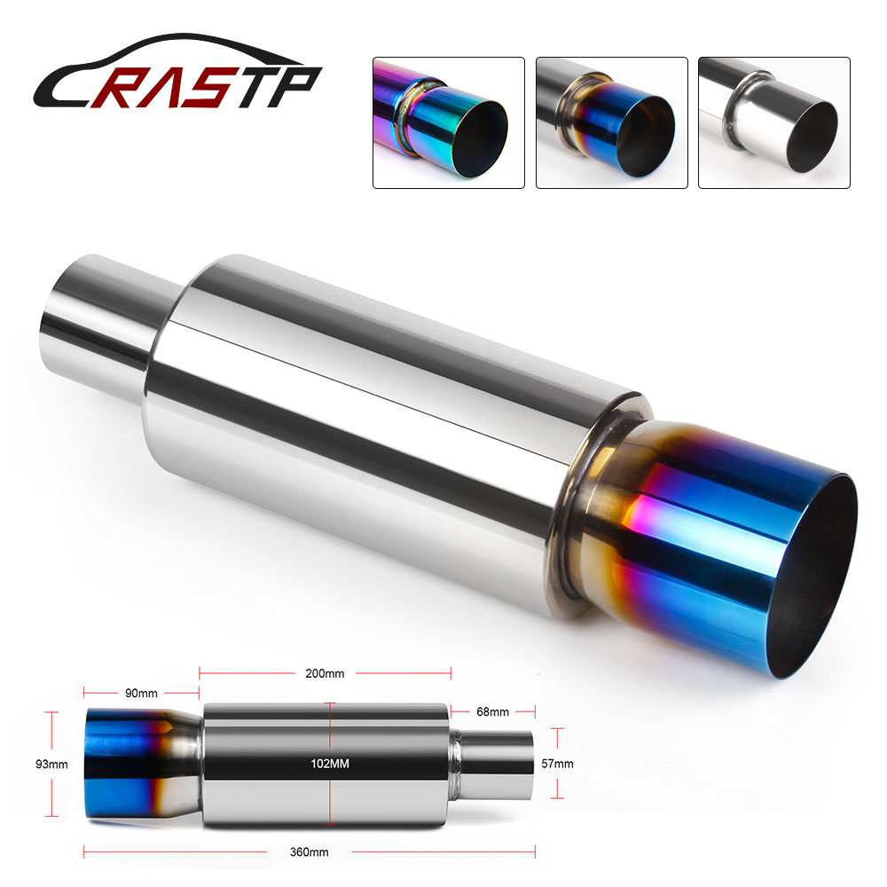 RASTP- Universal Stainless Steel <font><b>57mm</b></font> Car <font><b>Exhaust</b></font> <font><b>tip</b></font> Systems Muffler Tail Pipe Auto Accessories Mufflers RS-CR1008 image