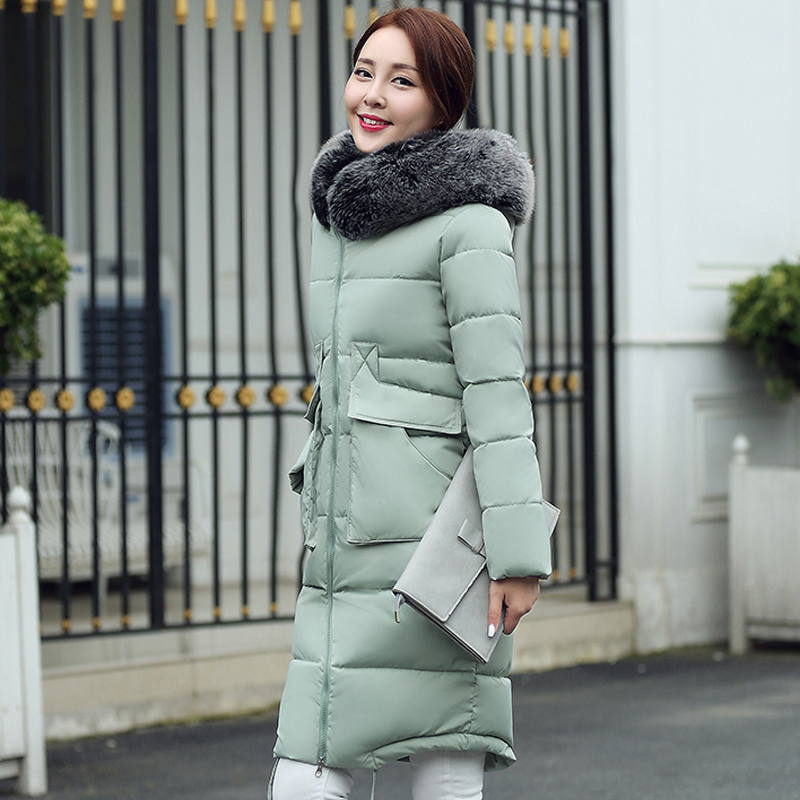 9c08bf41d22 Aliexpress.com   Buy Wadded Jacket Women Parka 2016 New Thick Long Winter  Coat Hood Faux Fur Collar Down Cotton Padded Coats Women Plus Size HJ433  from ...