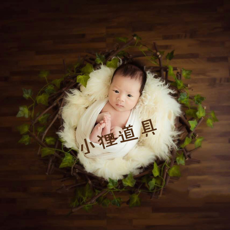 a652d105d2651 New Studio Baby Photography Props Girl Forest Flower Bird Nest Newborn  Photo Props Posing Basket for Photo Shooting Infant Props