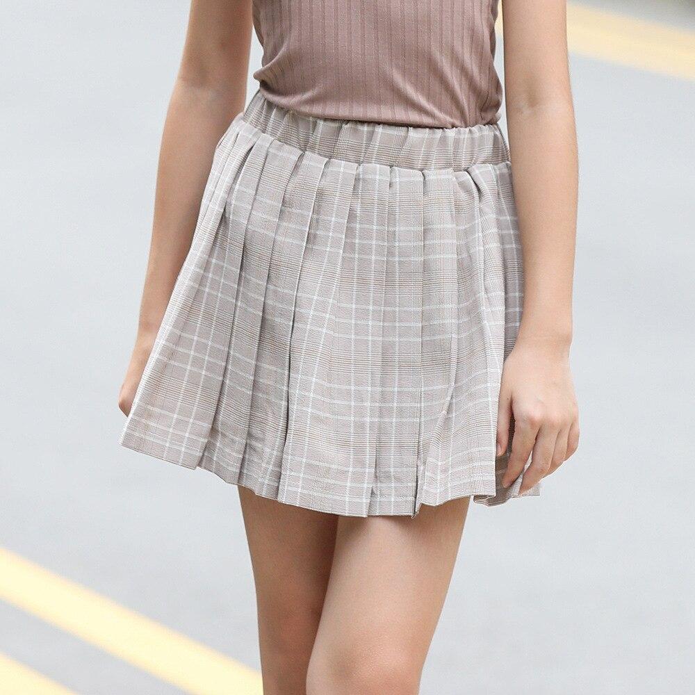 Summer Little Skirt For 8 9 10 11 12 Years Girl Plaid Pattern Kids Paldas Children Cotton Mini Spodnica Cute Kids' Things