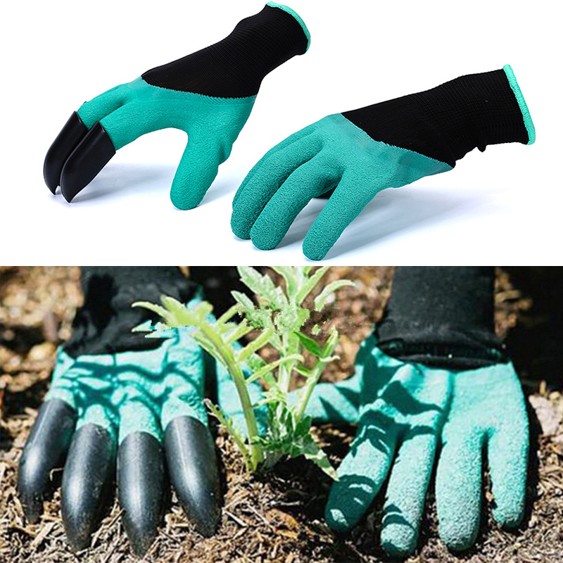 Garden Gloves With Fingertips Claws Quick Easy to <font><b>Dig</b></font> and Plant Safe for Rose Pruning Gloves Mittens Digging Gloves