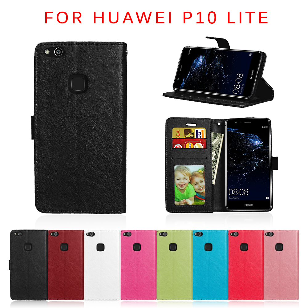 For Huawei P10 Lite Luxury Stand Wallet PU Leather Flip Bags For Huawei P 10 Lite Cover For Huawei P10 Lite 5.2'' Phone Cases