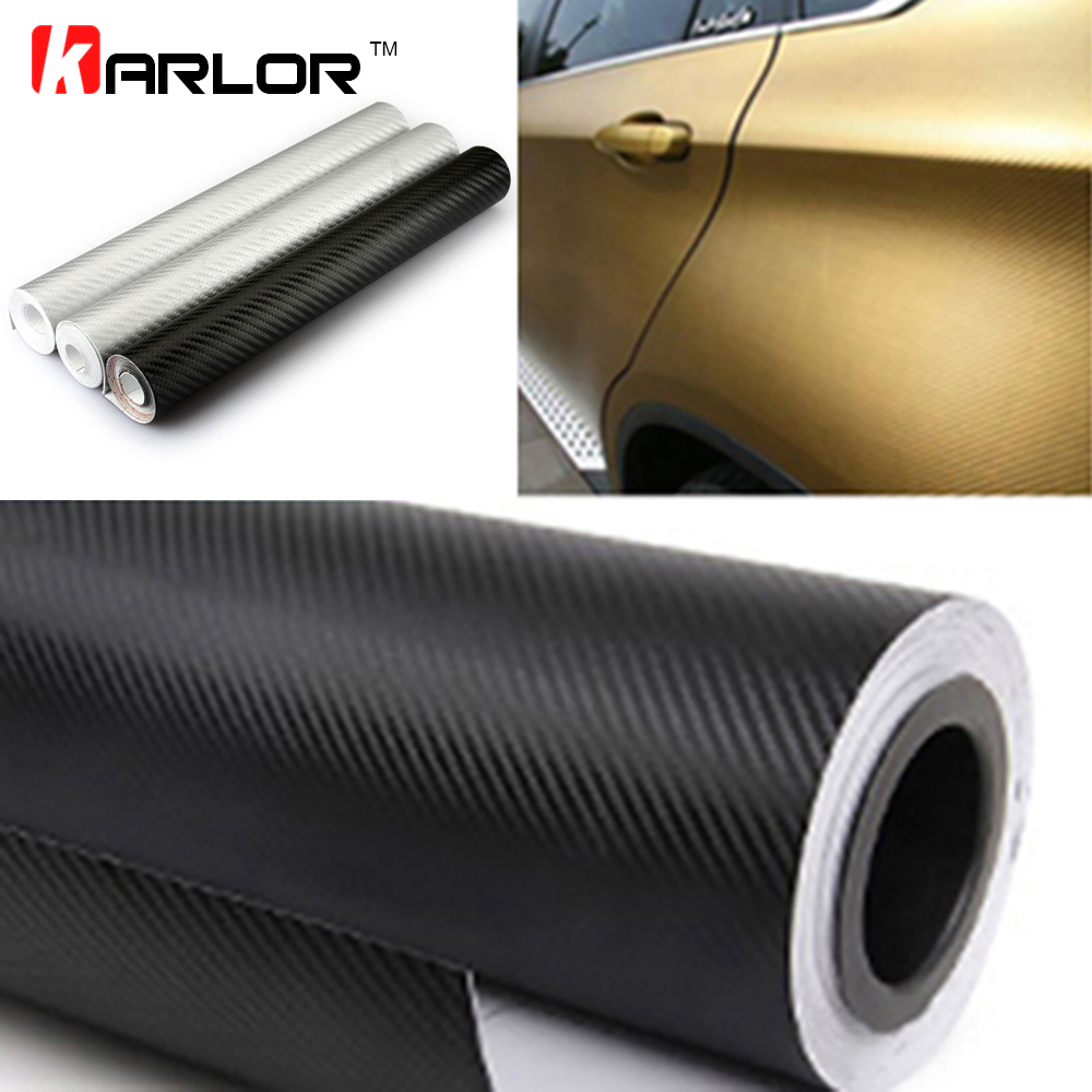 цена на 60x200cm Waterproof DIY 3D 3M Carbon Fiber Vinyl Wrapping Film Car Sticker Motorcycle Automobiles Car Styling Accessories
