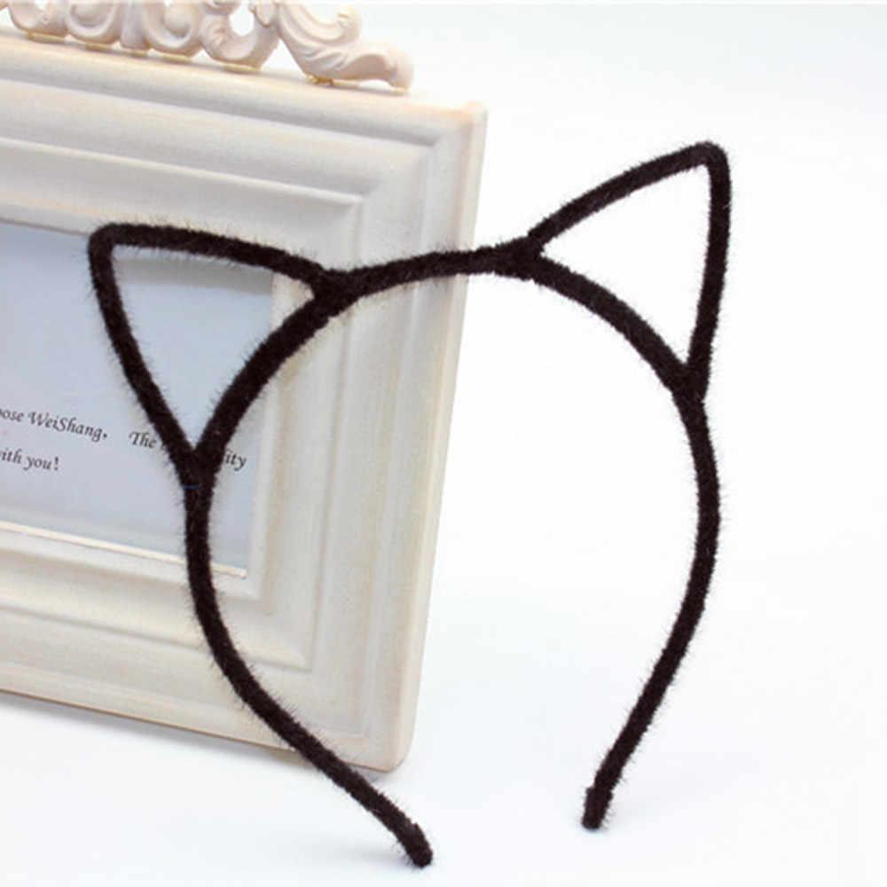 สไตล์ผู้หญิงผู้หญิง Furry แมวหู Headband Devil Cat Head Hoop Fine เครื่องประดับผมอุปกรณ์เสริม Headwear เซ็กซี่ผม Band
