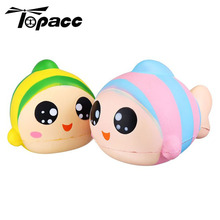 13cm Rainbow Animal ColorfulFish Slow Rising Toy With Original Packing Kids Cute Toys Fish Squeeze Funny Gift