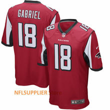2018 New Arrival Youth's Taylor Gabriel 18 Red Game and Red Super Bowl LI Bound Game Jersey Football Player Sport Shirt(China)