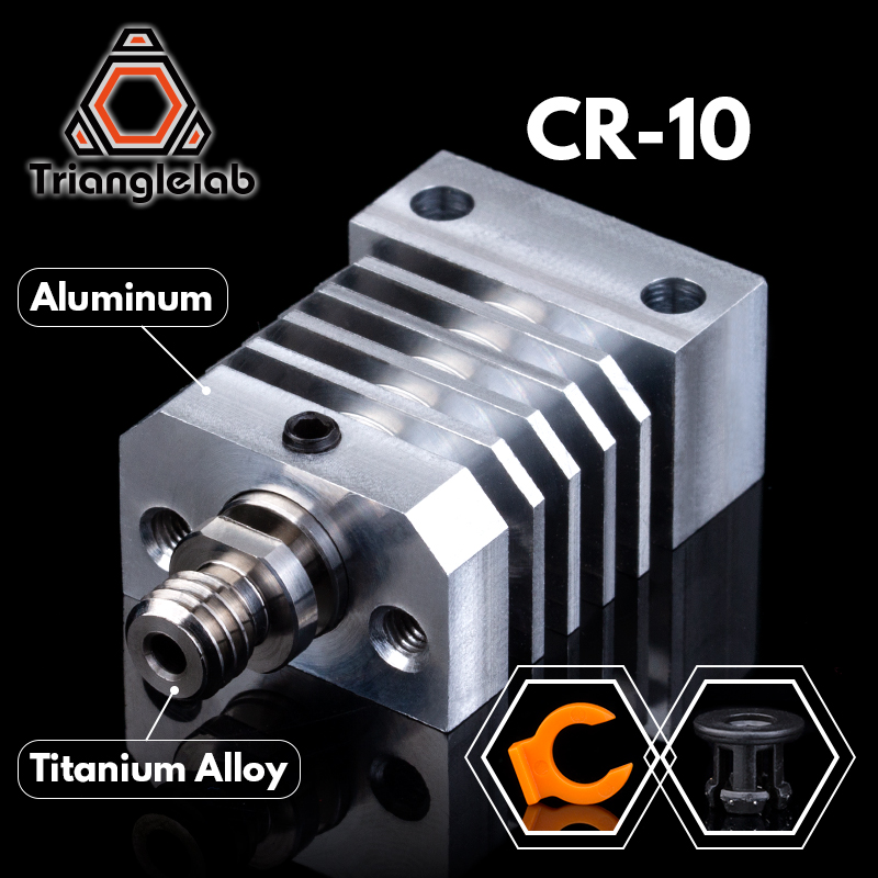 Trianglelab cr10 히트 싱크 CR-10 ender3 프린터 용 모든 금속 핫 엔드 업그레이드 키트 micro swiss cr10 hotend titanium heat breaker