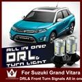 Ночь Господь Для Suzuki Grand Vitara SX4 7440 T20 WY21W LED двойной цвет DRL & Передняя Включите Signalsall в одном