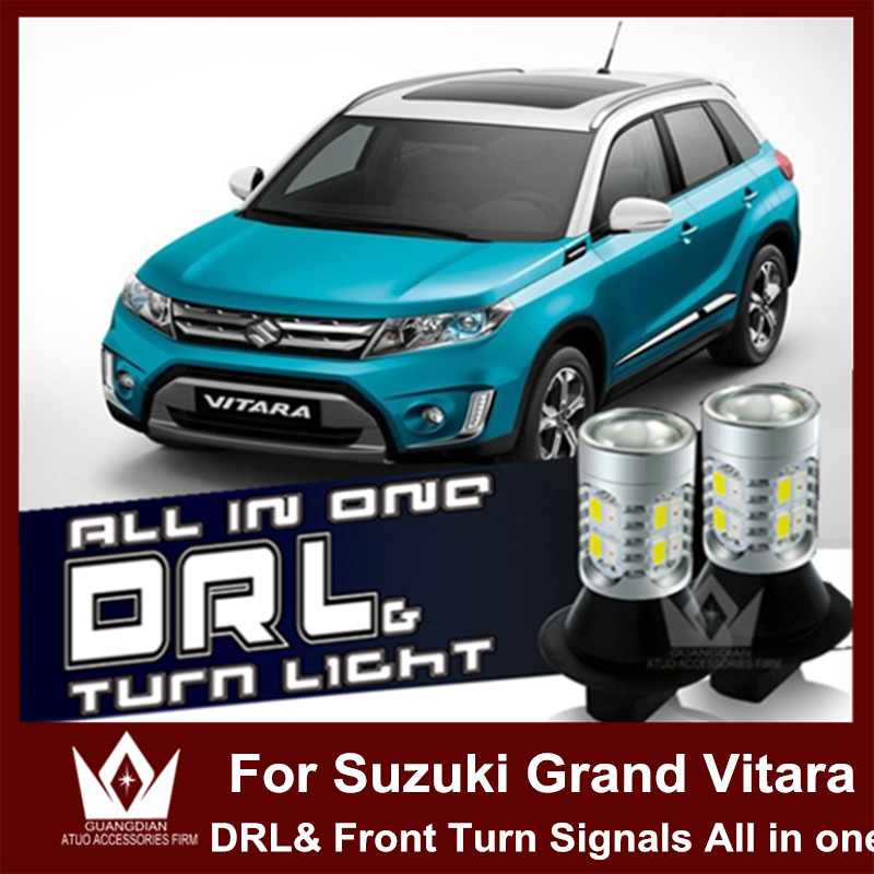 Night Lord  For Suzuki Grand Vitara SX4 7440 WY21W T20 LED double color DRL&Front Turn Signals all in one night lord for nissanteana wy21w 7440 t20 winker blinker led drl