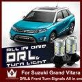 Senhor noite para suzuki grand vitara sx4 7440 wy21w t20 led duplo cor drl & frente virada signalsall em um