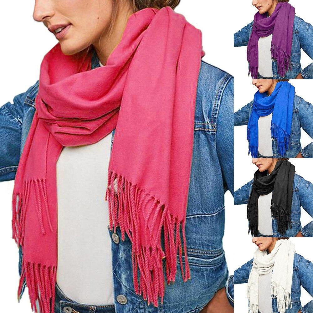 Elegant Acne   Scarves   Pure Color Pashmina Virgin Wool Cashmere   Scarf   Shawl Unisex   Wrap   Neckerchief Breathable   Scarves   Tippet