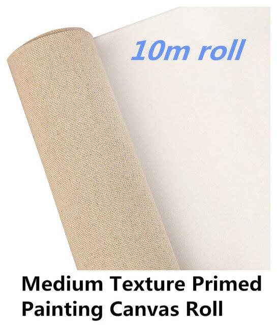 US $54 43 |10m roll Artist Primed Linen canvas & Linen canvas rolls & art  canvas rolls-in Painting Canvas from Office & School Supplies on