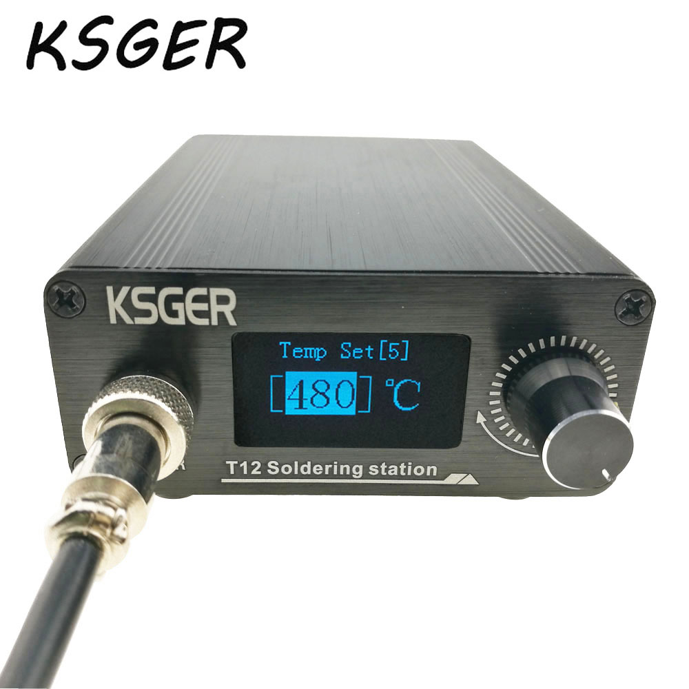 KSGER T12 Soldering Station V2.0 STM32 OLED Digital Temperature Controller Electric Soldering Irons Stings T12-K B2 BC2 D24 Tips(China)