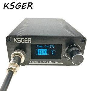 Image 2 - KSGER T12 Soldeerstation V2.0 STM32 OLED Digitale Temperatuur Controller Elektrische Soldeerbouten Stings T12 K B2 BC2 D24 Tips