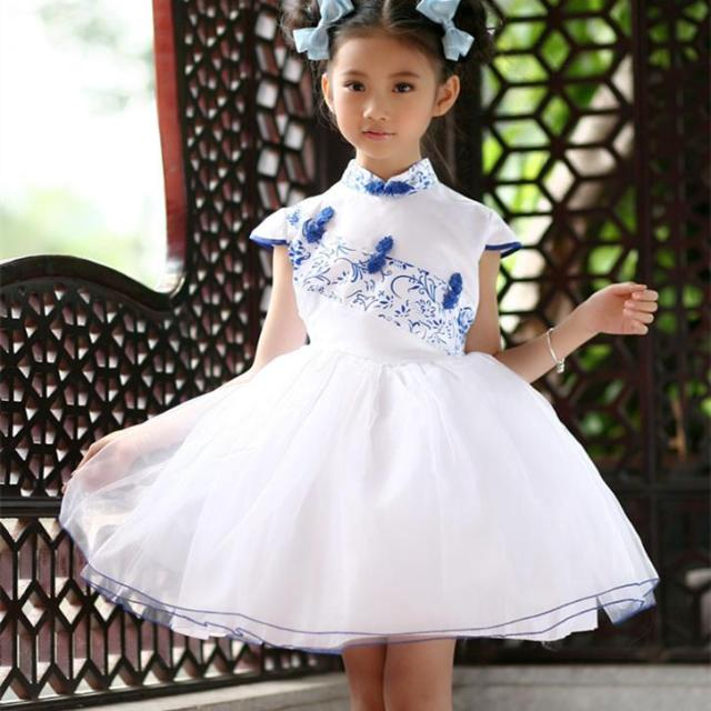 dd952be8e BL Chinese Style Kids Fashion Designer Dress Traditional Girls Birthday  Dresses 2 To 14 Year Olds Girls Dress KD