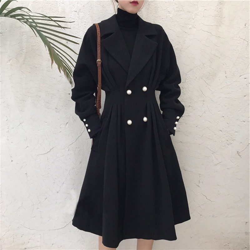 Fashion women comfortable warm long coat new arrival high quality korean OL temperament outerwear holiday plus size thick   trench