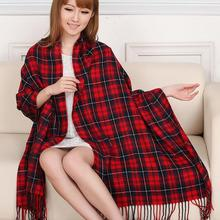 Women Plaid Tartan Scarf Oversized Neck Warm Shawl Checked Wrap Pashmina Stole L10450