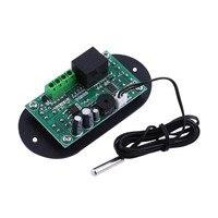DC AC 12V Mini Thermal Regulator Thermostat Digital Thermostat Temperature Alarm Controller Sensor Meter
