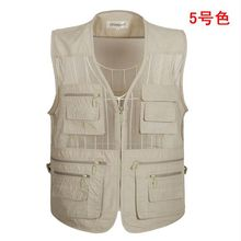 outdoor Men Multi Pocket Baggy Vest 2019 Summer men Casual Thin Mesh Shooting Work Outerwear Sleeveless Jacket With Many Pockets black side pockets sleeveless outerwear