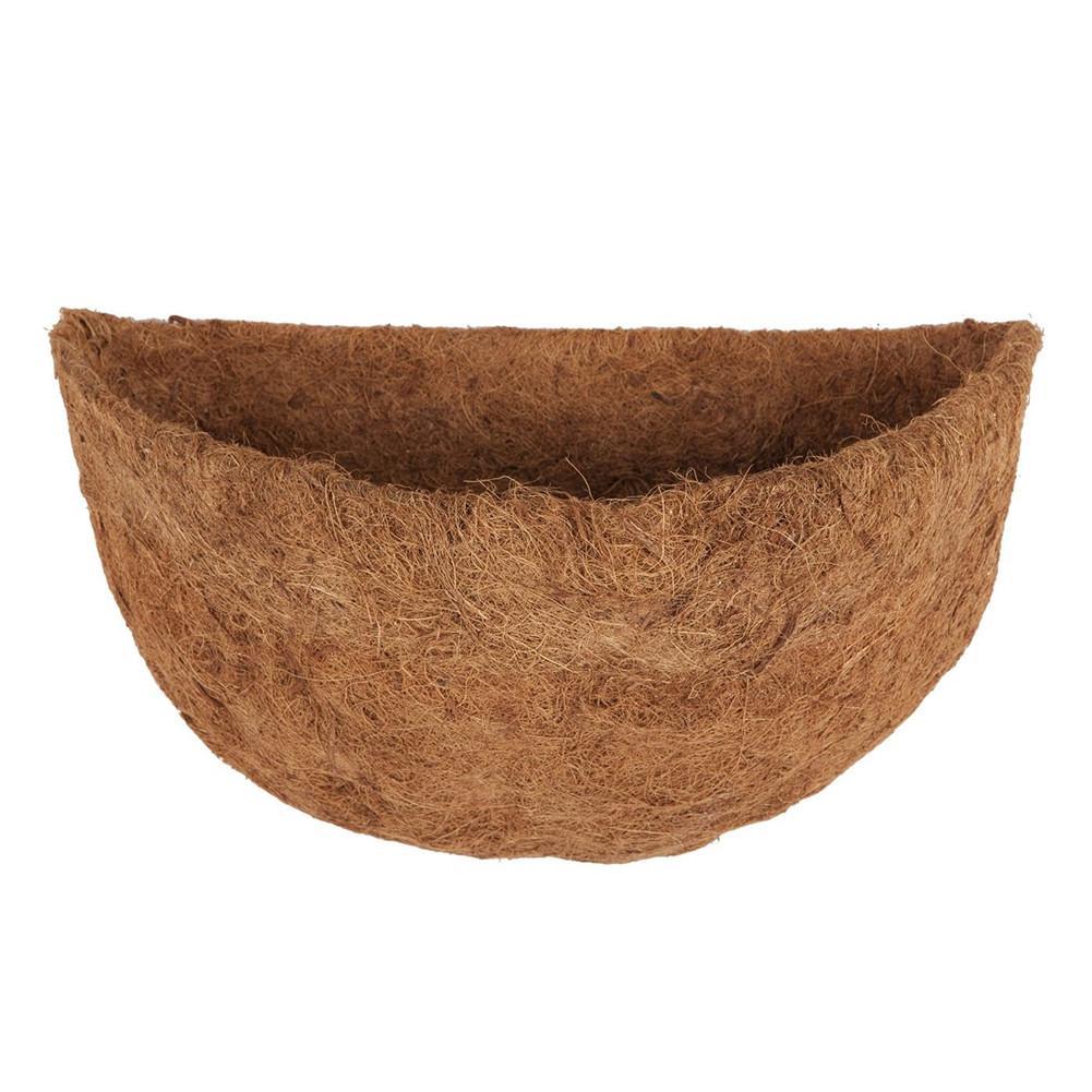 Полукруглое натуральное кокосовое волокно, полукруглое Настенное кашпо, кокосовое волокно, сменные вкладыши для настенных подвесных корзин - Цвет: S
