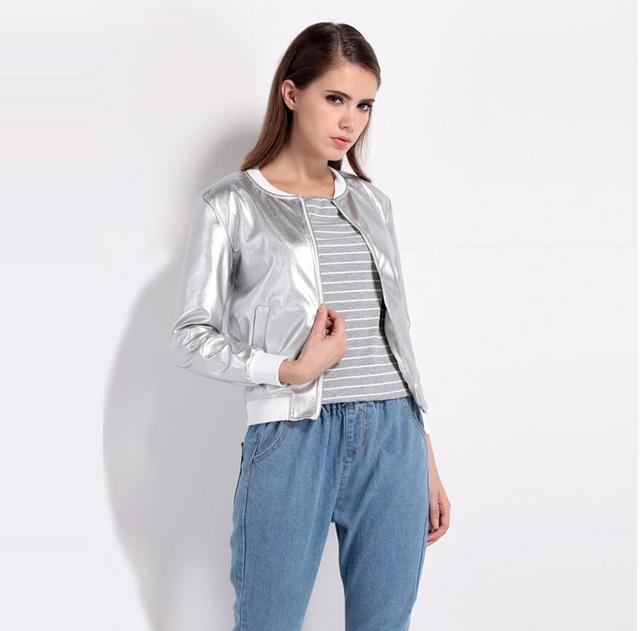 2017 SELLWORLDER Fashion Coat Women O-Neck Long Sleeve Basic Outwear Coat Casual Zipper Fly Slim Bomber Jacket For Ladies 3