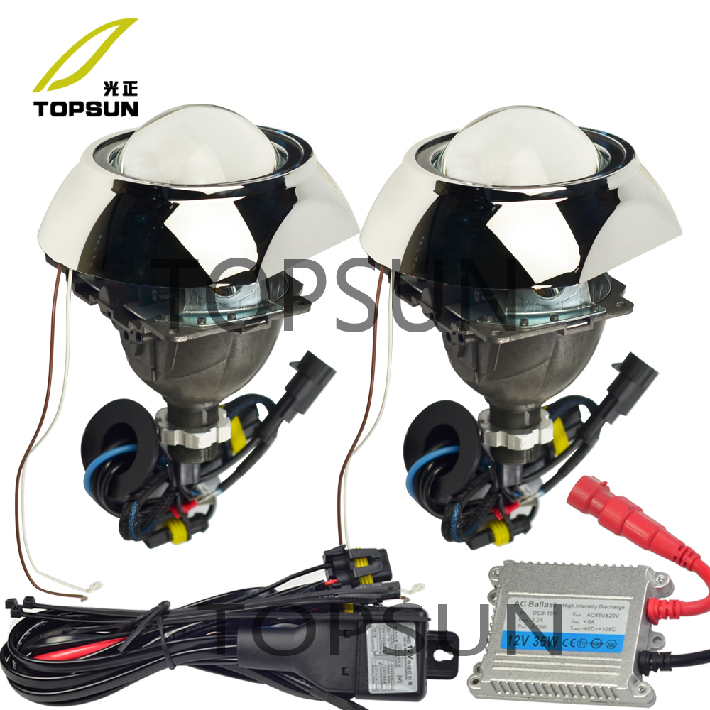 3 inch Bifocal Koito Q5 Projector Lens,Bezels Shrouds overs,HID Xenon Bulb,H/L Beam Control Cable,for H1 H4 H7 H1