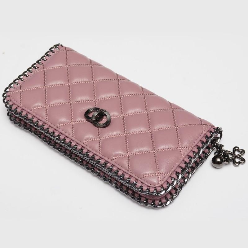d639c867cb3 Bestbaoli High Quality Women Wallets Genuine Leather Bag For Woman Long  Diamond Lattice Designer Purse Clutch Zipper Card Holder