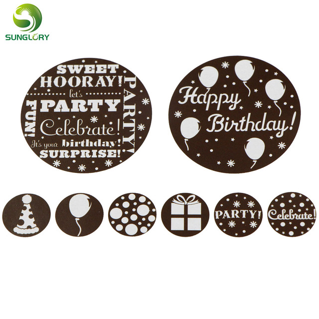 Fondant 8PCS SET Happy Birthday Cake Stencil Mold Cupcake Cookie Stencils Template For Baking Kitchen Party Decoration