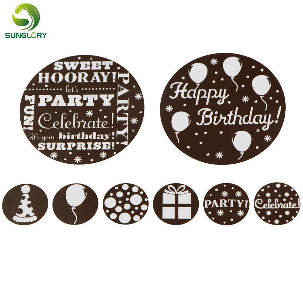 Brilliant Fondant 8Pcs Set Happy Birthday Cake Stencil Mold Cupcake Cookie Personalised Birthday Cards Vishlily Jamesorg
