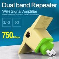 2017 drahtlose Wifi Repeater 802.11n/b/g Netzwerk WiFi Router 750 Mbps Netzwerk-fräser-strecken-expander-signal Booster Extender 2,4/5 GHz Dual