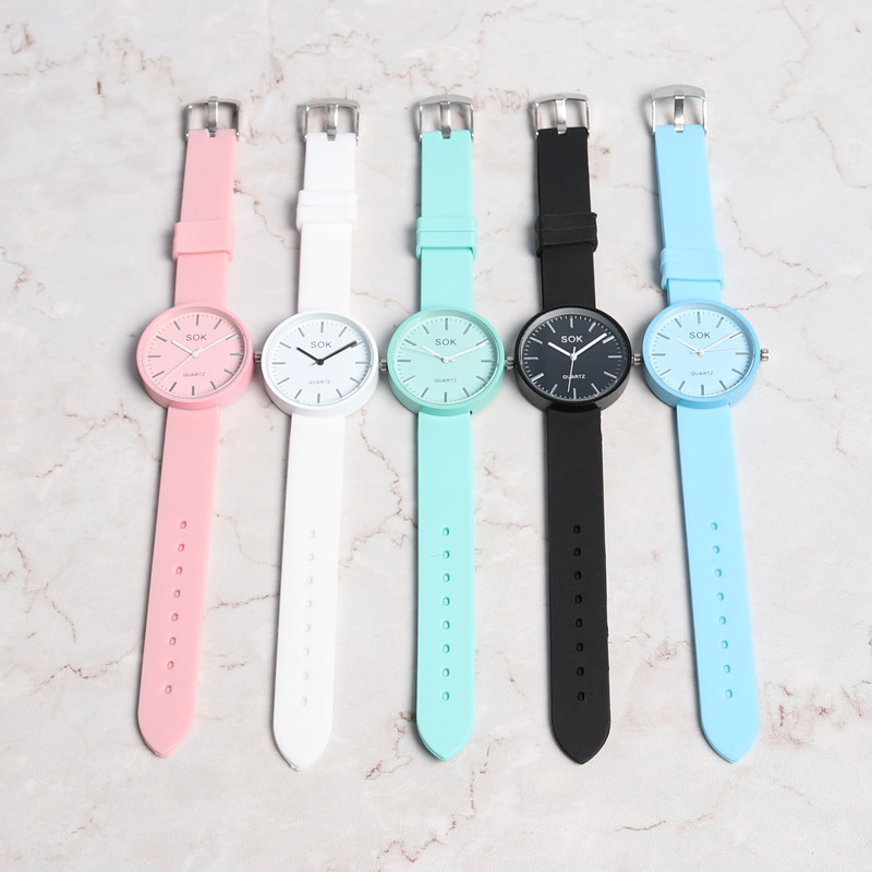 Watches Student Retro Girl Couple Watch Casual Korean Ulzzang Mint Green Jelly Watch Student Retro Girl Literature Watches