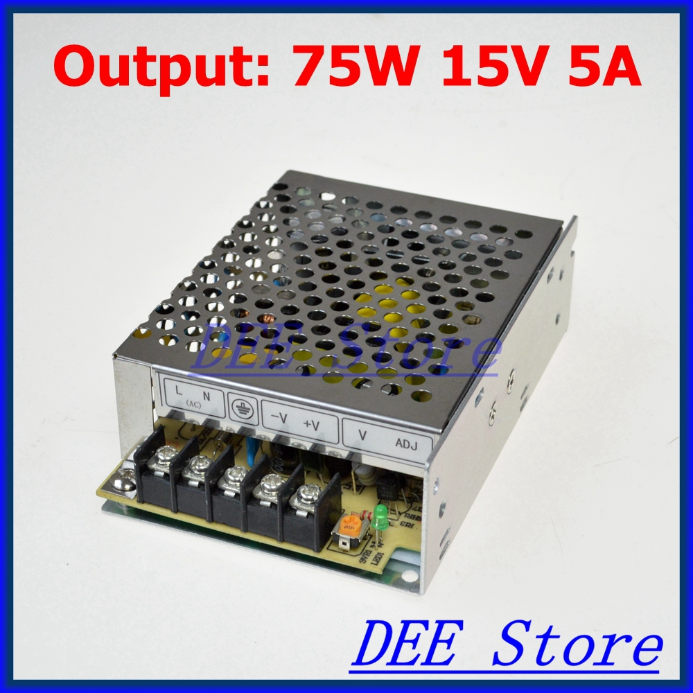цена на Small Volume Led driver 75W 15V 5A Single Output Adjustable Switching power supply for LED Strip light AC-DC Converter