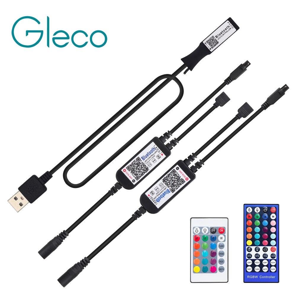 RGB RGBW Bluetooth LED Controller USB / 24 Keys / 40 Keys IR Remote Control / APP Control For RGB / RGBW / RGBWW LED Strip Light