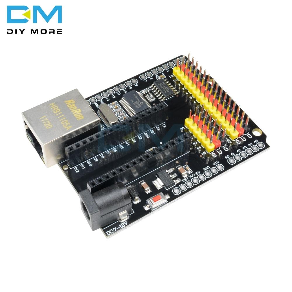 Плата расширения для модуля ENC28J60 Ethernet V2.0 2,0 NANO UNO R3 Duemilanove Leonardo MEGA, совместимая с контроллером Arduino