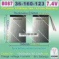 "[B087] 7.4 В, 4950 мАч * 2, [36160123] полимер литий-ионный аккумулятор 10.1 ""CU-BE U30GT 1/2 quad core; U30GT dual tablet pc"