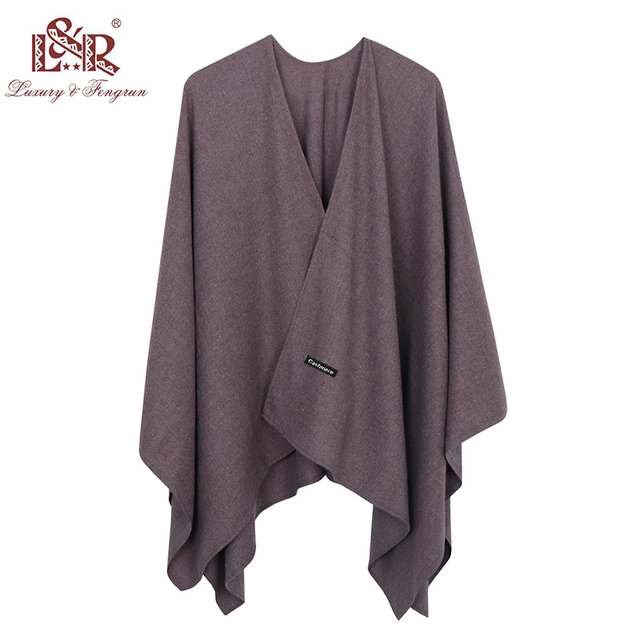 2020 140*140mm Winter Square female Poncho Cashmere Wool Women Poncho Scarf  Solid Foulard Femme Pashmina Shawl Winter Excharpe 4