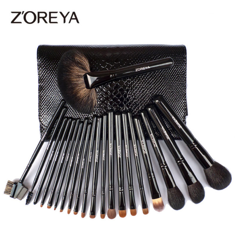 ZOREYA 21Pcs Makeup Brush Set Professional Blush Concealer Powder Eyeshadow Blending  Lip Large Fan Brush Makeup Brushes ToolsZOREYA 21Pcs Makeup Brush Set Professional Blush Concealer Powder Eyeshadow Blending  Lip Large Fan Brush Makeup Brushes Tools